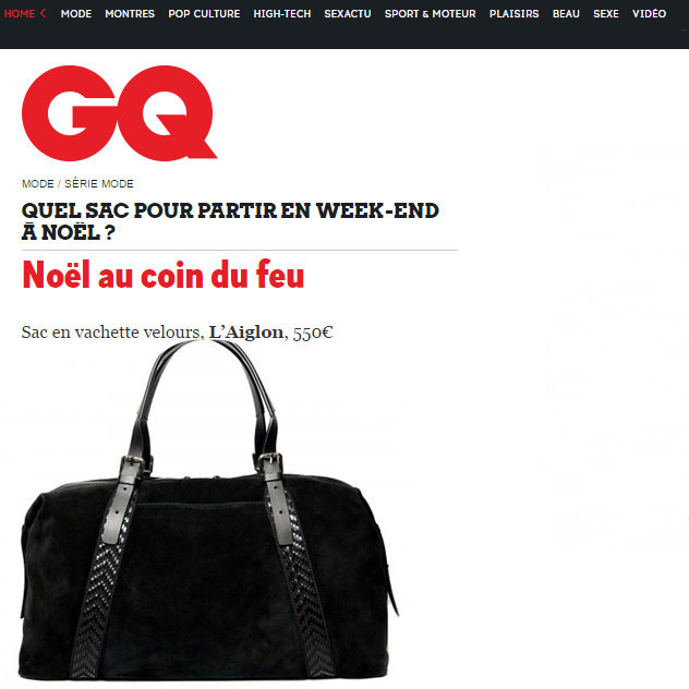 Editorial GQ Magazine per L'Aiglon Stillife Packshot Editorial backpack